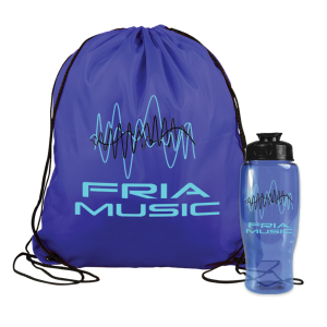 Bottle in A Drawstring Backpack Combo Kit