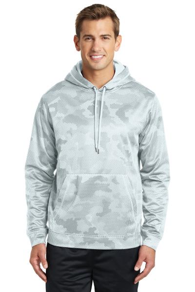 Sport-Tek® Sport-Wick® CamoHex Fleece Hooded Pullover ...